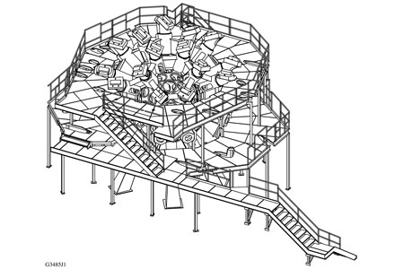 Target mirror structure and personnel platform.