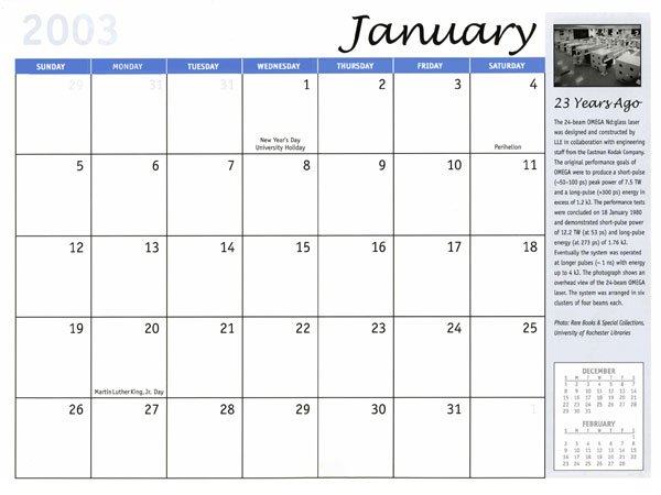 January 2003 Calendar | New Calendar Template Site