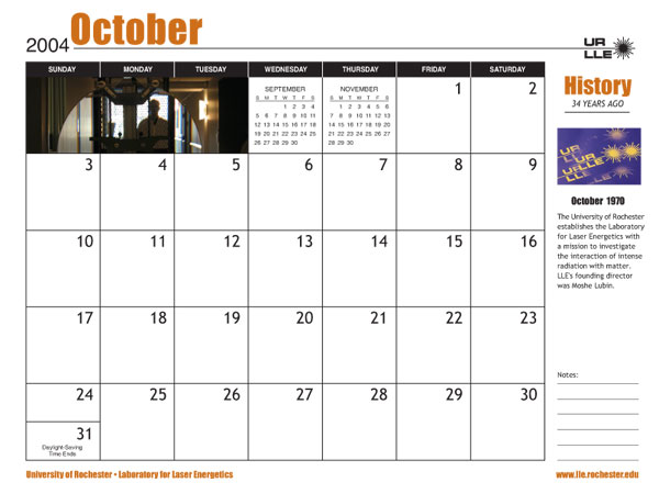 Page from 2004 Calendar