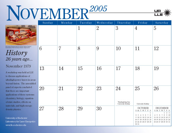 Page from 2005 LLE Calendar