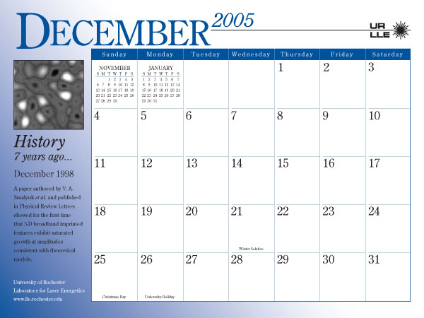 600 x 450 jpeg 48kB, 2005 Calendar - Laboratory for Laser Energetics