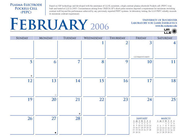 February 2006 Calendar | My Calendar Template Collection