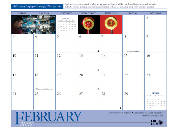 Page from 2008 Calendar
