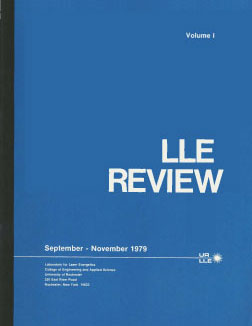 Cover of LLE Review 1