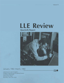 Cover of LLE Review 10