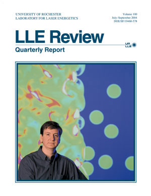 Cover of LLE Review 100
