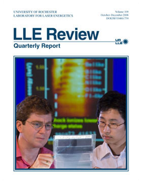 Cover of LLE Review 109