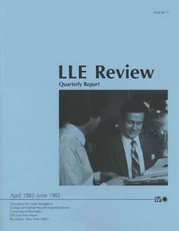 Cover of LLE Review 11