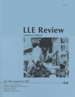 Cover of LLE Review 12