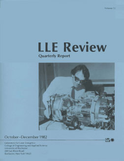 Cover of LLE Review 13