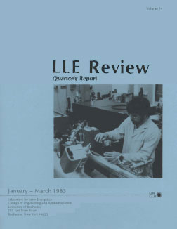 Cover of LLE Review 14