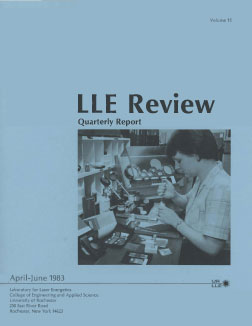 Cover of LLE Review 15