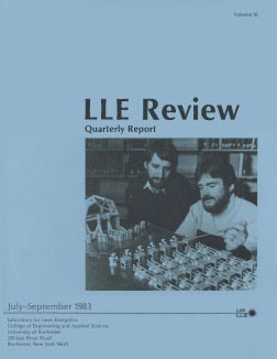 Cover of LLE Review 16