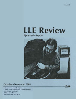 Cover of LLE Review 17