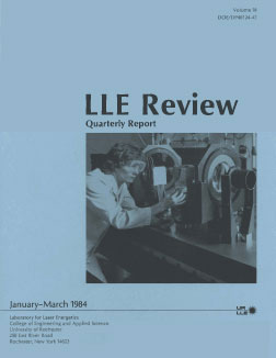 Cover of LLE Review 18