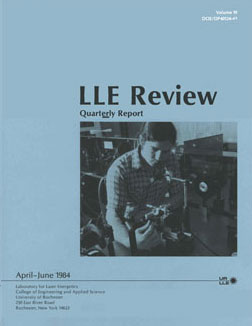 Cover of LLE Review 19