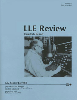 Cover of LLE Review 20