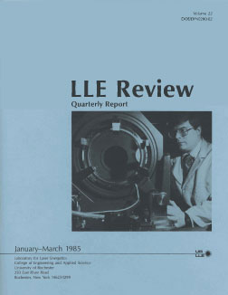 Cover of LLE Review 22