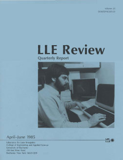 Cover of LLE Review 23