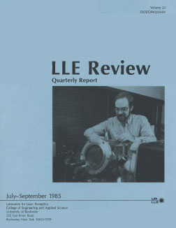 Cover of LLE Review 24