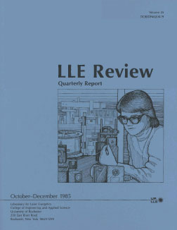 Cover of LLE Review 25