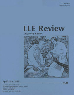 Cover of LLE Review 27