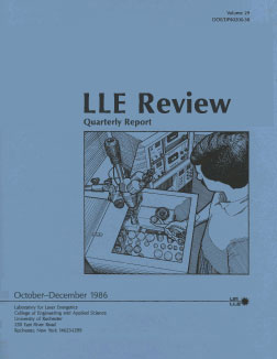 Cover of LLE Review 29