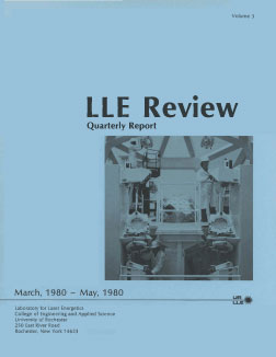 Cover of LLE Review 3