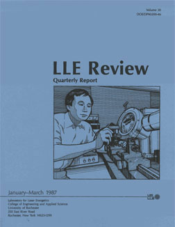 Cover of LLE Review 30