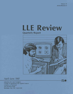 Cover of LLE Review 31