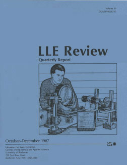 Cover of LLE Review 33