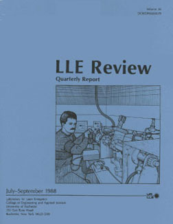 Cover of LLE Review 36