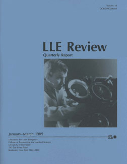 Cover of LLE Review 38
