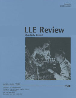 Cover of LLE Review 39