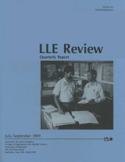 Cover of LLE Review 40