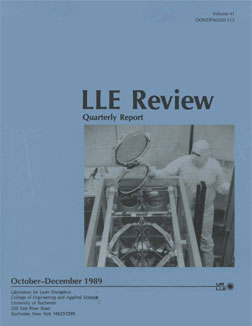 Cover of LLE Review 41
