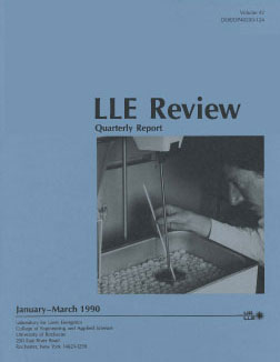 Cover of LLE Review 42