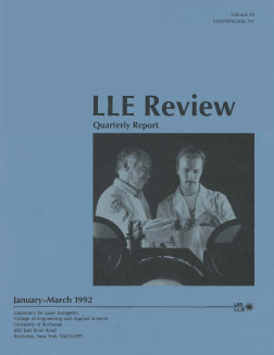 Cover of LLE Review 50