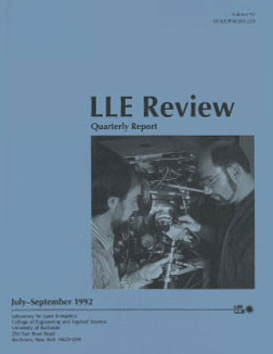Cover of LLE Review 52