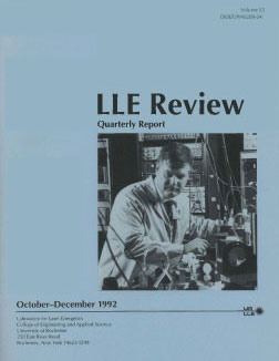 Cover of LLE Review 53