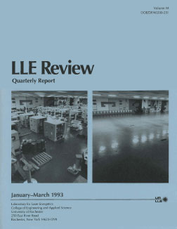 Cover of LLE Review 54