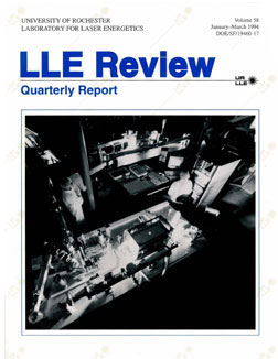 Cover of LLE Review 58