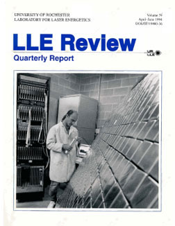Cover of LLE Review 59
