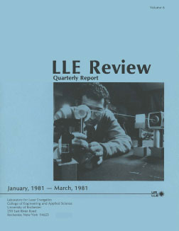 Cover of LLE Review 6