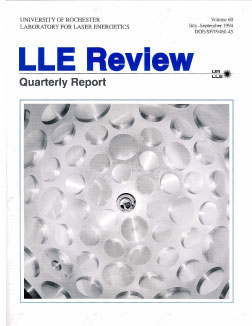 Cover of LLE Review 60