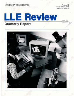 Cover of LLE Review 62