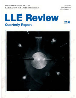 Cover of LLE Review 63