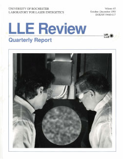 Cover of LLE Review 65