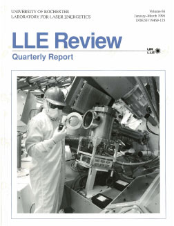 Cover of LLE Review 66