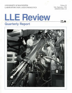 Cover of LLE Review 68
